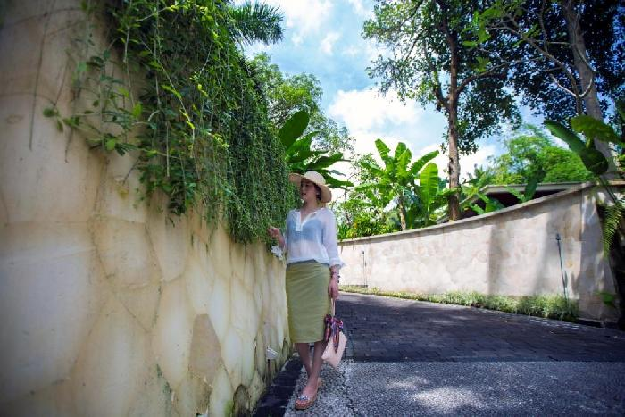酒店工作人员告诉我们巴厘岛最好的稻田在乌布,乌布最好的稻田在四季.